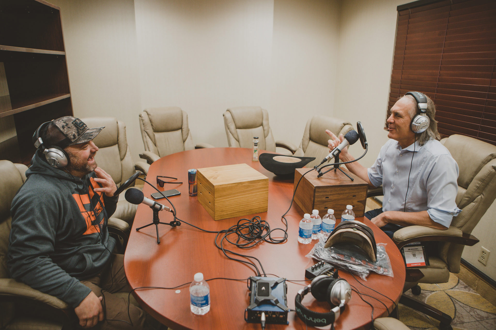 Jim Shockey and Chad Belding Podcasting