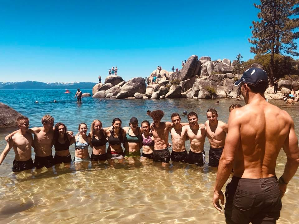 Pendola running team Lake Tahoe